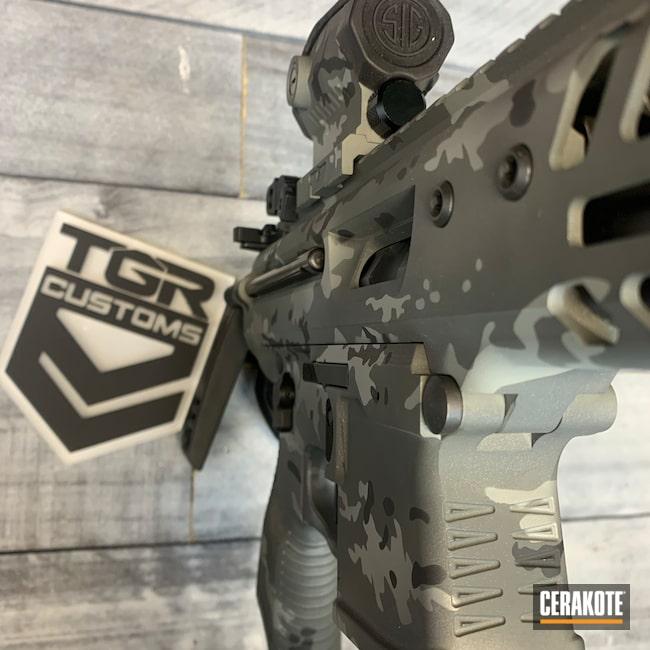 Cerakoted: S.H.O.T,9mm,MPX,Graphite Black H-146,Sig Sauer,Titanium H-170,Bull Shark Grey H-214,SIG™ DARK GREY H-210,Sniper Grey C-239,Sig MPX