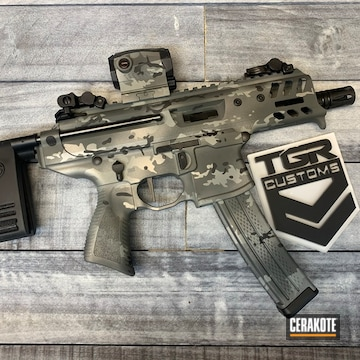 Custom Camo Sig Sauer Mpx Cerakoted Using Sniper Grey, Sig™ Dark Grey And Titanium