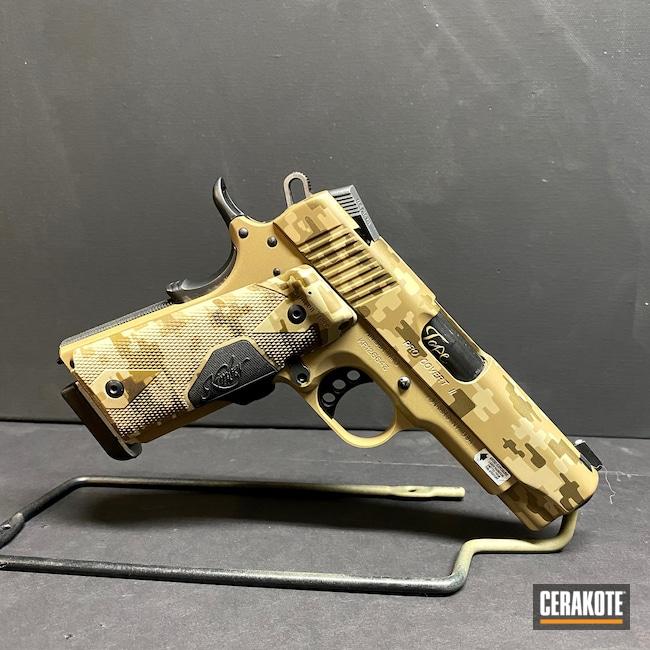 Cerakoted: S.H.O.T,Custom Mix,Digital Camo,Kimber,Desert Sand H-199,Burnt Bronze H-148,Kimber Custom,1911,GLOCK® FDE H-261