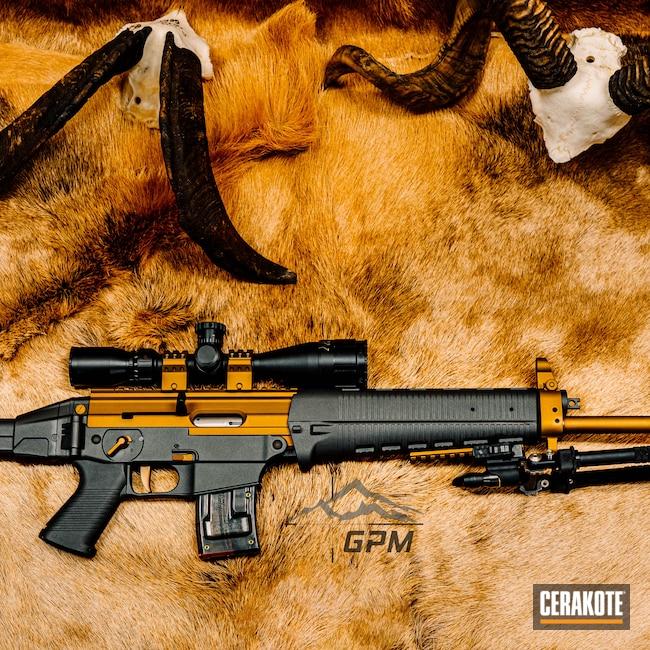 Cerakoted: S.H.O.T,Silencer,BSA,GPM,Cerakote,Tactical,Bronze,Sig,.22LR,Tactical Rifle,Sig Sauer,B&T Industries Atlas bi-pod,22lr,Cobalt H-112,Atlas,LR522,Needle Point,Graphite Black H-146,Burnt Bronze H-148,LR,Bipod,Supressor,.22
