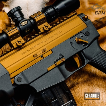 Sig Sauer Rifle Cerakoted Using Burnt Bronze And Cobalt