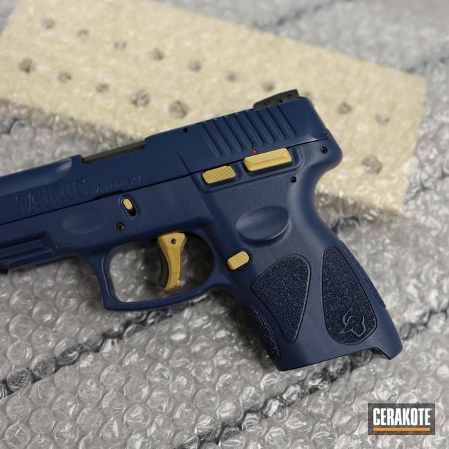 Cerakoted: S.H.O.T,9mm,Graphite Black H-146,KEL-TEC® NAVY BLUE H-127,Pistol,Taurus,Gold H-122,Handgun,G2C