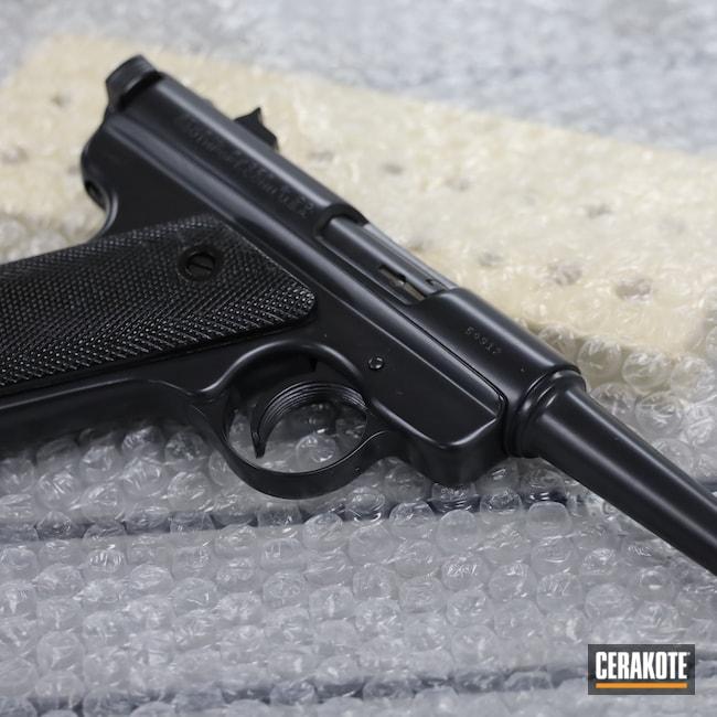Cerakoted: S.H.O.T,Ruger,BLACKOUT E-100,MKI,Pistol,.22LR,.22,Handgun
