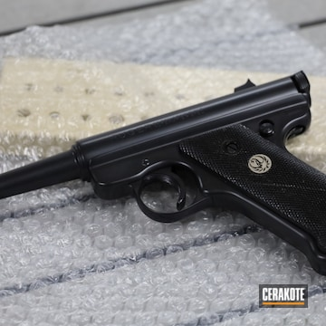 Ruger Mki Pistol Cerakoted Using Blackout