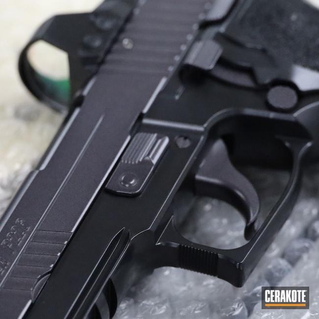 Cerakoted: S.H.O.T,9mm,Sig P226,BLACKOUT E-100,Pistol,Sig Sauer,Sig,CARBON GREY E-240,P226,Handgun