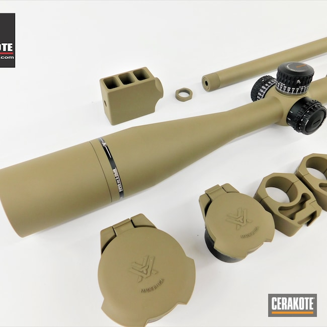 Cerakoted: S.H.O.T,Bolt Action Rifle,Scope Mount,Bolt Action,Howa,Barrel,Howa M1500,Gun Parts,Flat Dark Earth H-265,Rifle Barrel,Vortex,Scope,Vortex Scope,Bolt,Viper,Scope Rings
