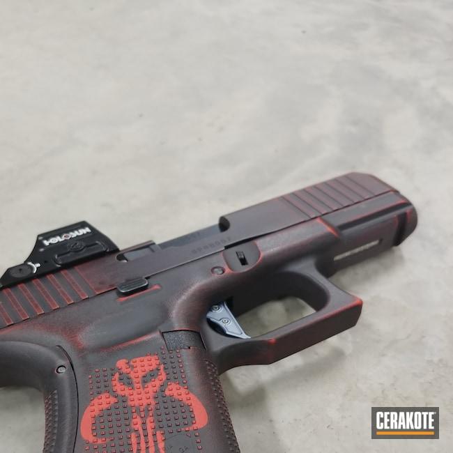 Cerakoted: S.H.O.T,9mm,Battleworn,Graphite Black H-146,USMC Red H-167,Pistol,Glock,Mandalorian,.9