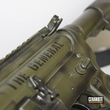 Battleworn Ar Build Cerakoted Using Armor Black And Mil Spec O.d. Green