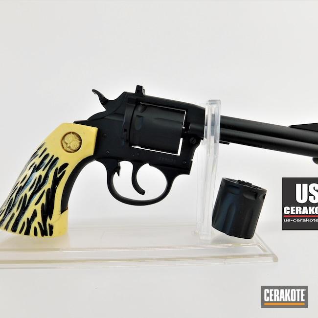 Cerakoted: S.H.O.T,Iver Johnson,Revolver,Wheel Gun,Armor Black H-190,Gun Parts,.22
