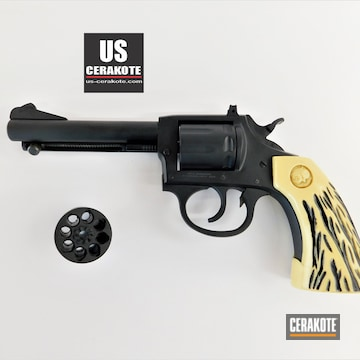 Iver Johnson Revolver Cerakoted Using Armor Black