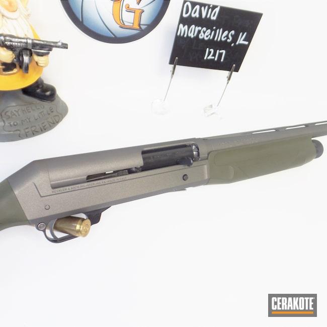 Cerakoted: S.H.O.T,Shotgun,Shotgun Barrel,Tungsten H-237,Forest Green H-248