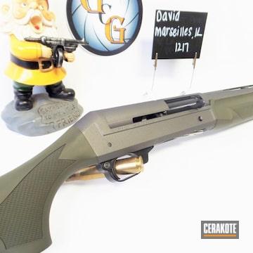 Shotgun Cerakoted Using Forest Green And Tungsten