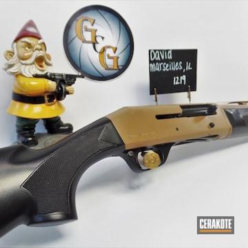 Shotgun Cerakoted Using Fs Brown Sand And Blackout