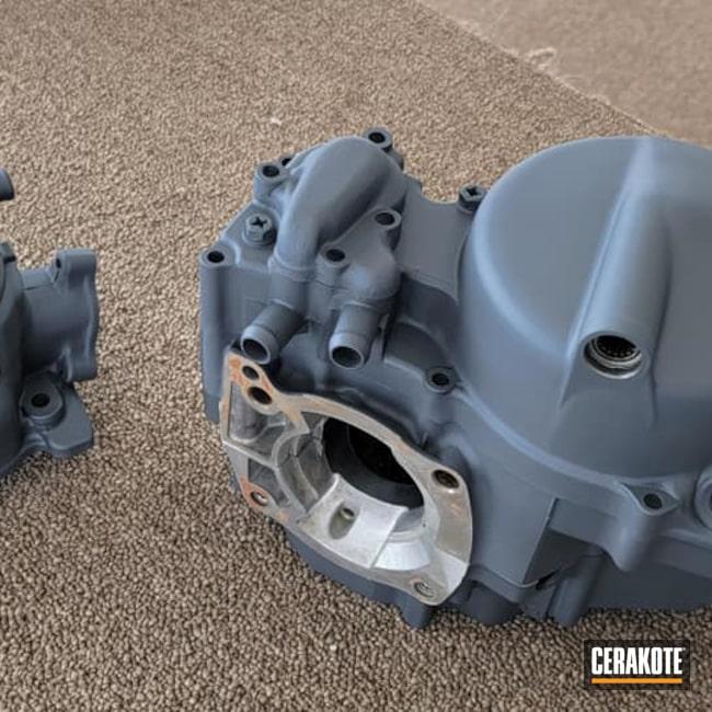 Cerakoted: Motorcycle Parts,Honda Engine Parts,Automotive,Engine Block,Sniper Grey C-239,Honda,Motorcycle