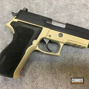 Sig Sauer P226 Cerakoted Using Benelli® Sand And Blackout
