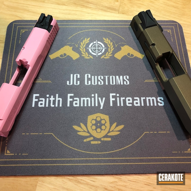 Cerakoted: S.H.O.T,Bazooka Pink H-244,Burnt Bronze H-148,Pistol,Pistol Slide