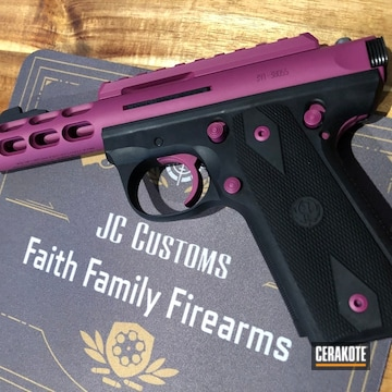 Ruger Pistol Cerakoted Using Sig™ Pink And Black Cherry