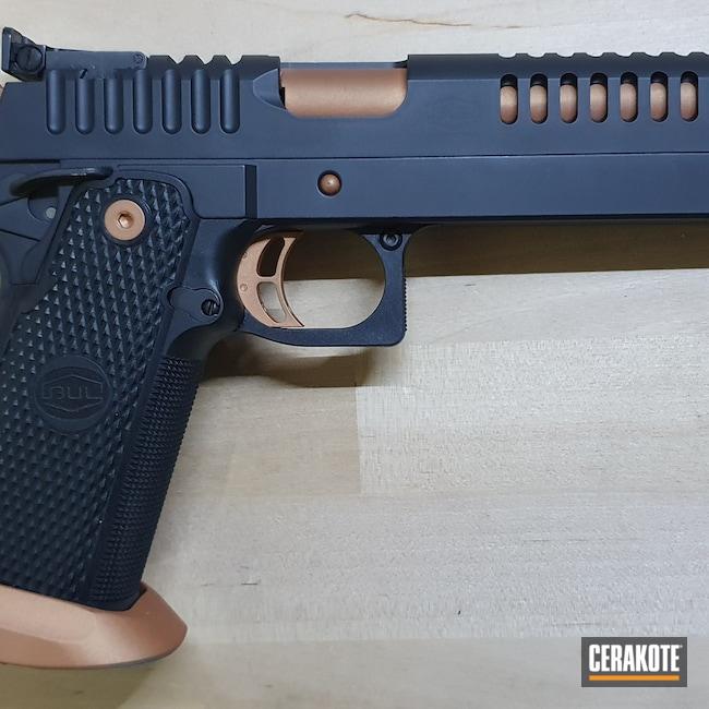 Cerakoted: S.H.O.T,9mm,COPPER H-347,Bul Armory,Graphite Black H-146,1911