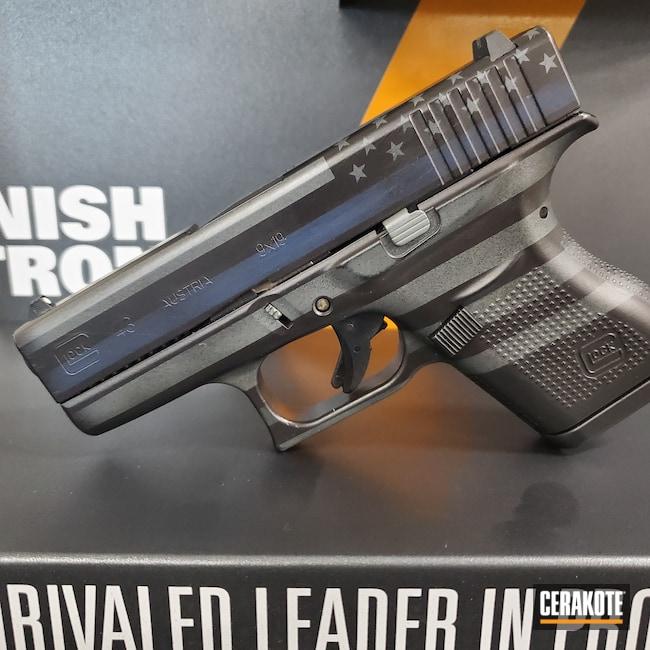Cerakoted: S.H.O.T,9mm,Battleworn,Thin Blue Line,Graphite Black H-146,KEL-TEC® NAVY BLUE H-127,Glock,PLATINUM GREY H-337