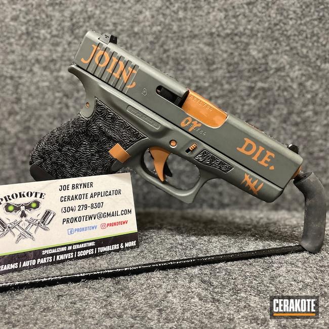 Cerakoted: S.H.O.T,Join Or Die,COPPER H-347,Glock,PLATINUM GREY H-337,Glock 43