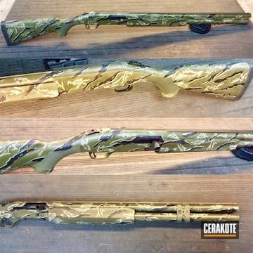 Vietnam Tiger Stipe Camo Mossberg 940 Jm Pro Cerakoted Using Desert Sand, O.d. Green And Graphite Black