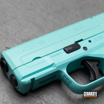 Springfield Amory Xds-9 Pistol Cerakoted Using Robin's Egg Blue
