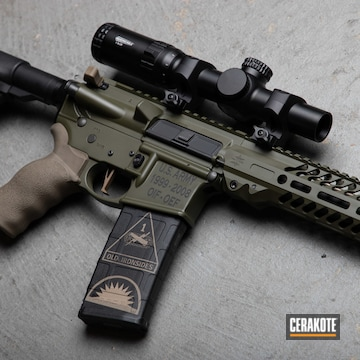 U.s Army Themed Smith & Wesson Mp15 Cerakoted Using Sniper Green