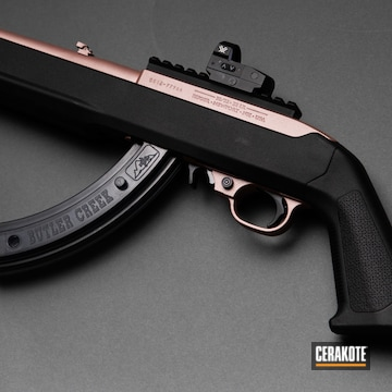Ruger Rifle Cerakoted Using Rose Gold