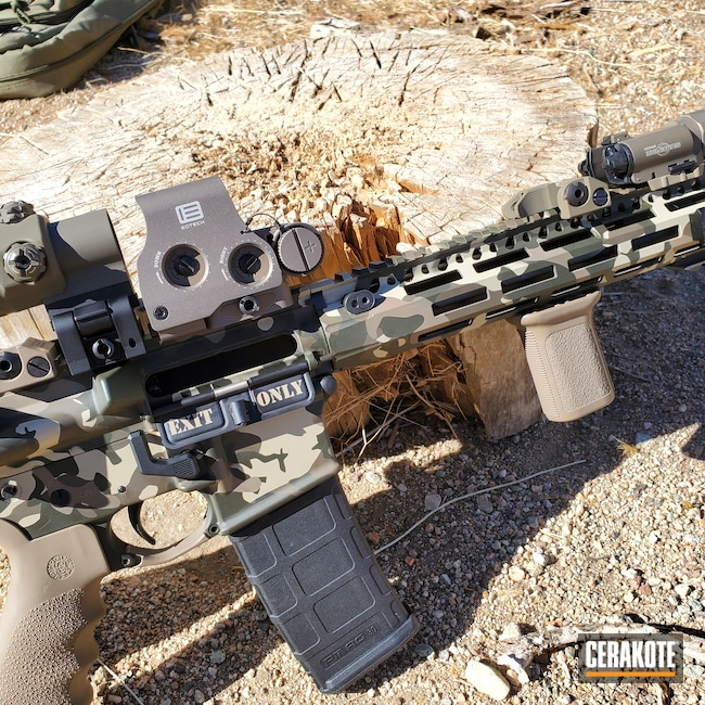 Cerakoted: S.H.O.T,.45,1911A1,MAGPUL® FLAT DARK EARTH H-267,Refinished,Custom Camo,5.56,FS BROWN SAND H-30372,Mil Spec O.D. Green H-240,Smith & Wesson,Colt,Patriot Brown H-226,1911,M&P15,AR-15