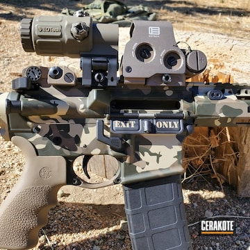 Smith & Wesson M&p15 Cerakoted Using Patriot Brown, Fs Brown Sand And Magpul® Flat Dark Earth