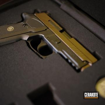 Sig Sauer P229 Cerakoted Using Midnight Bronze
