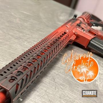 Battleworn Ar Build Cerakoted Using Usmc Red And Graphite Black