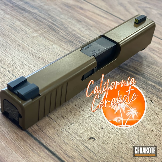 Cerakoted: S.H.O.T,Glock Slide,Patriot Brown H-226,Pistol,Glock,Slide,Christopher Miller,california cerakote