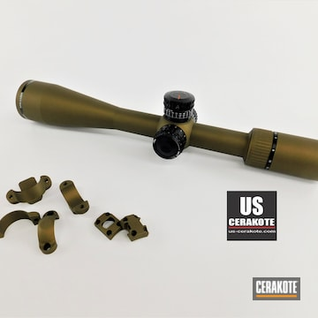Vortex Scope Cerakoted Using Burnt Bronze