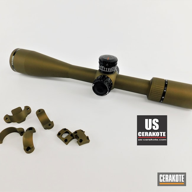 Cerakoted: S.H.O.T,Scope Mount,Gun Parts,Vortex,Scope,Viper PST,Vortex Scope,Leupold Rings,Optic,Burnt Bronze H-148,Leupold Bases,Scope Rings,Leupold