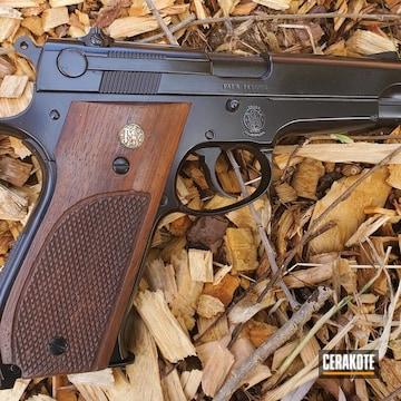 Smith & Wesson 1911 Cerakoted Using Gloss Black