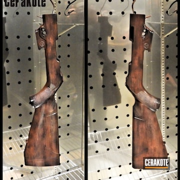 Rifle Stocks Cerakoted Using Light Sand, Glock® Fde And Graphite Black