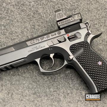 Cz 75 Sp-01 Pistol Cerakoted Using Graphite Black