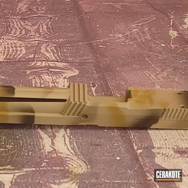 Cerakoted: Noveske Tiger Eye Brown H-187,S.H.O.T,MAGPUL® FLAT DARK EARTH H-267,Desert Sand H-199,Glock Slide,Glock,Gun Parts,Custom Camo,Plum Brown H-298