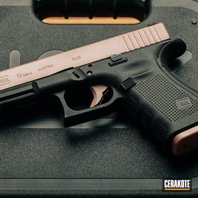Cerakoted: S.H.O.T,Glock 19,9mm,Rose Gold,Oregon,black flag armory,Glock,Southern Oregon,ROSE GOLD H-327,Medford,Handgun