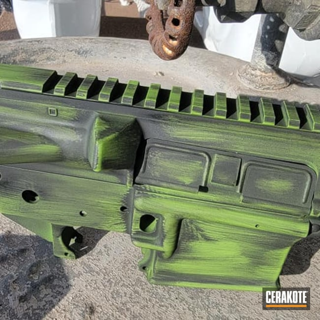 Cerakoted: S.H.O.T,Battleworn,Distressed,AR Project,Zombie Green H-168,Armor Black H-190,AR Rifle,AR Build,AR-15