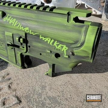 Battleworn Ar Builders Set Cerakoted Using Armor Black And Zombie Green