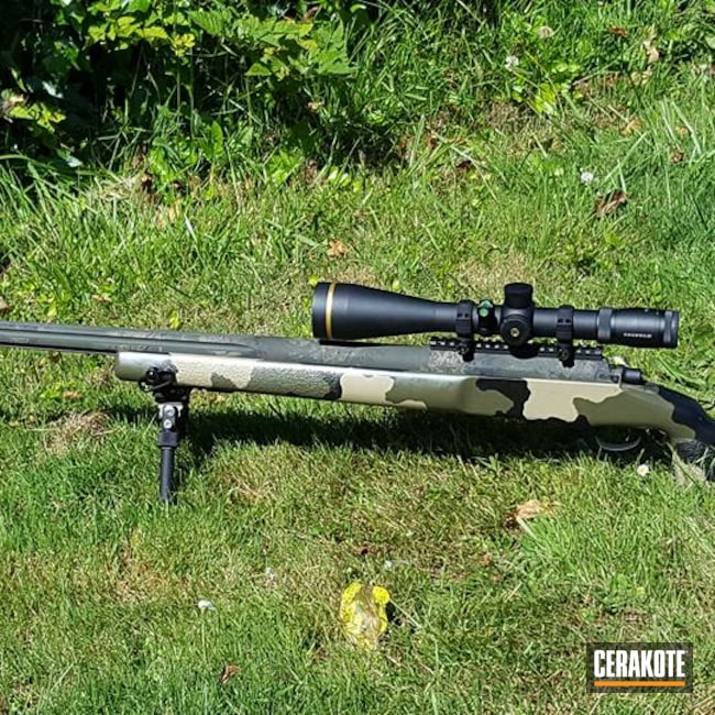 Cerakoted: S.H.O.T,Cerakote,Kreiger Barrel,MAGPUL® O.D. GREEN H-232,375,Straight Shooter Custom Rifle,Graphite Black H-146,Muddy Buddy Pattern,MAGPUL® FDE C-267,Stiller,375 Cheytac,Long Range Rifle,.408 cal