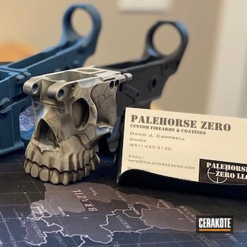 Sharp Bros And Palehorse Zero Lowers Cerakoted Using Armor Black, Cerakote Glacier Silver And Cerakote Glacier Gold