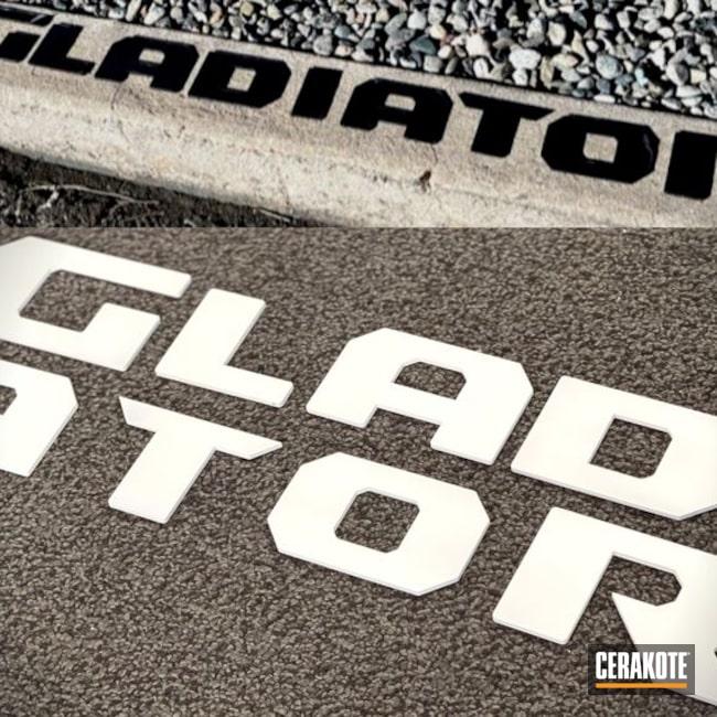 Jeep Gladiator Emblems Cerakoted Using Bright White