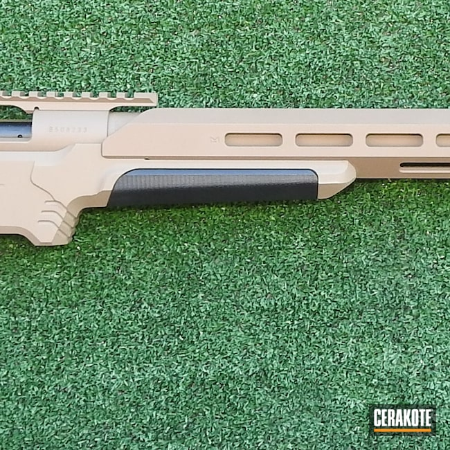 Cerakoted: S.H.O.T,6.5 Creedmoor,MDT,Target Shooting,Howa M1500,Cerakoted Night Force Scope,Tactical Rifle,MAGPUL® FDE C-267,Howa 1500 and MDT Chassis,Long Range Tactical Rifle