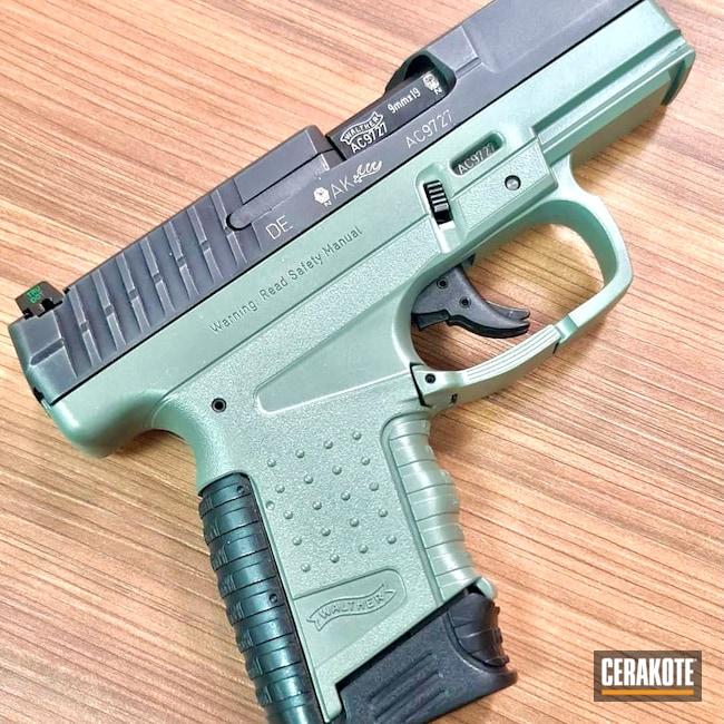 Cerakoted: S.H.O.T,9mm,Jungle E-140,Walther,Jungle,PPS,Green
