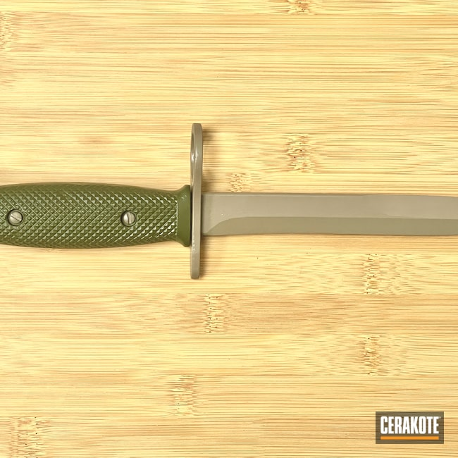 Cerakoted: S.H.O.T,Rifle,Custom,Sniper Green H-229,Bayonet,M17 COYOTE TAN E-170,Knife,Military