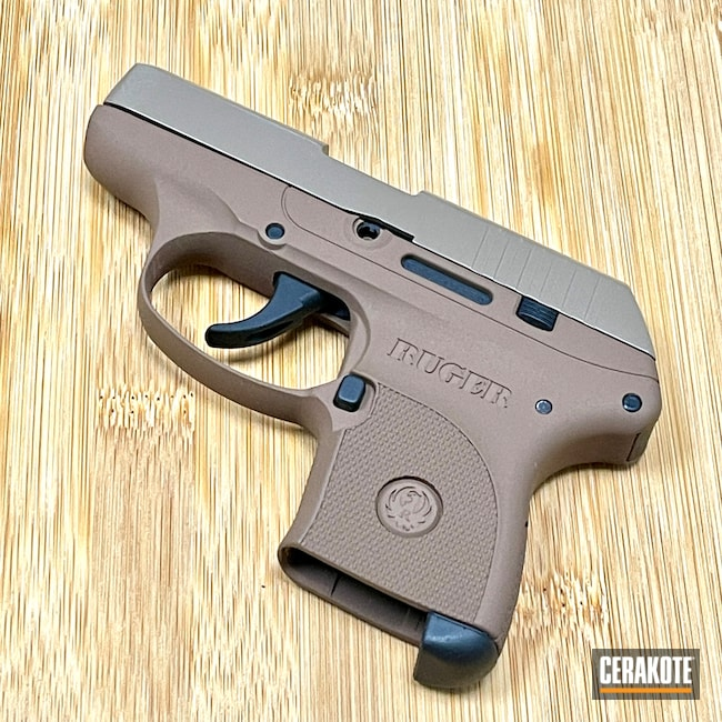 Cerakoted: S.H.O.T,LCP,Ruger,Graphite Black H-146,M17 COYOTE TAN E-170,.380,Copper Brown H-149