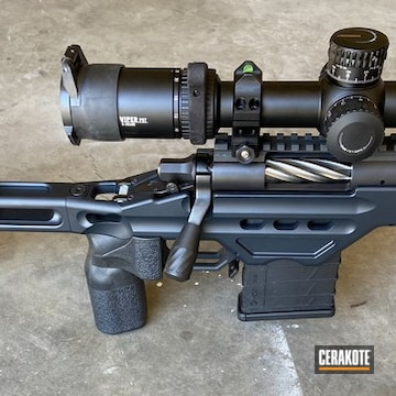 Remington 700 Rifle Cerakoted Using Magpul® Stealth Grey And Graphite Black